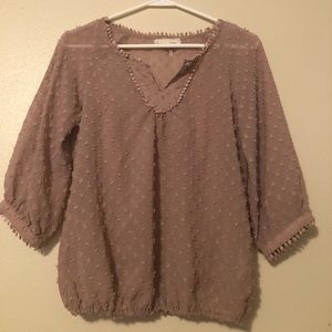 Anthropologie a'reve Small mauve blouse
